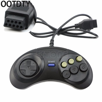 OOTDTY  6 Button Wired Controller for Sega Genesis/Mega Drive