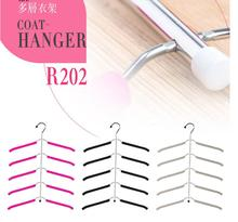 2pcsSponge skid-proof multi-layer clothes rack stainless steel clothes receive clothes support son multi-functional creative clo