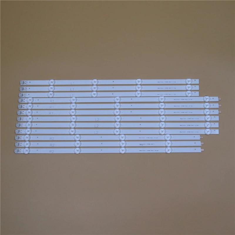 barres de led tv pour lg 47 pouces kit de bandes de retro eclairage pour televiseurs lampes 9led lentille 5 bandes lc470due