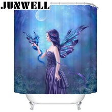 13PCS SET Polyester Waterproof Fabric Shower Curtains 3D photo printing Bath Curtain with 12 hooks shower curtain set washable
