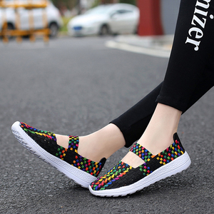 Image 5 - FEVRAL Brand Woman Casual Shoes Summer Breathable Handmade Woman Woven Shoes Fashion Comfortable LightWeight Wovening Size 35~41