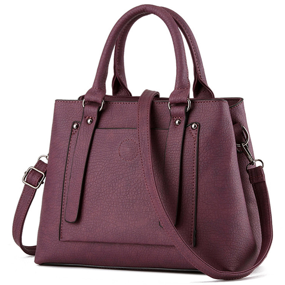 Winter New Women Handbag Vintage Luxury  Black Wine Red Tote Bag High Quality PU Leather Messenger Bags Solid Elegant OL Bags 2016 new retro candy women handbag bag fashion elegant pu leather bride bag red quality guaranteed 127