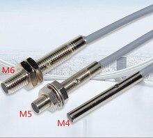 5PCS M4 M5 M6 Inductive קרבה מתג חיישן 3 חוט DC10 30V 500HZ 100mA גילוי מרחק 1mm NPN /PNP