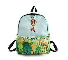 Для женщин Рюкзаки холст Пейзаж printingL Сумки на плечо для подростков Обувь для девочек женские Повседневное Школьные сумки