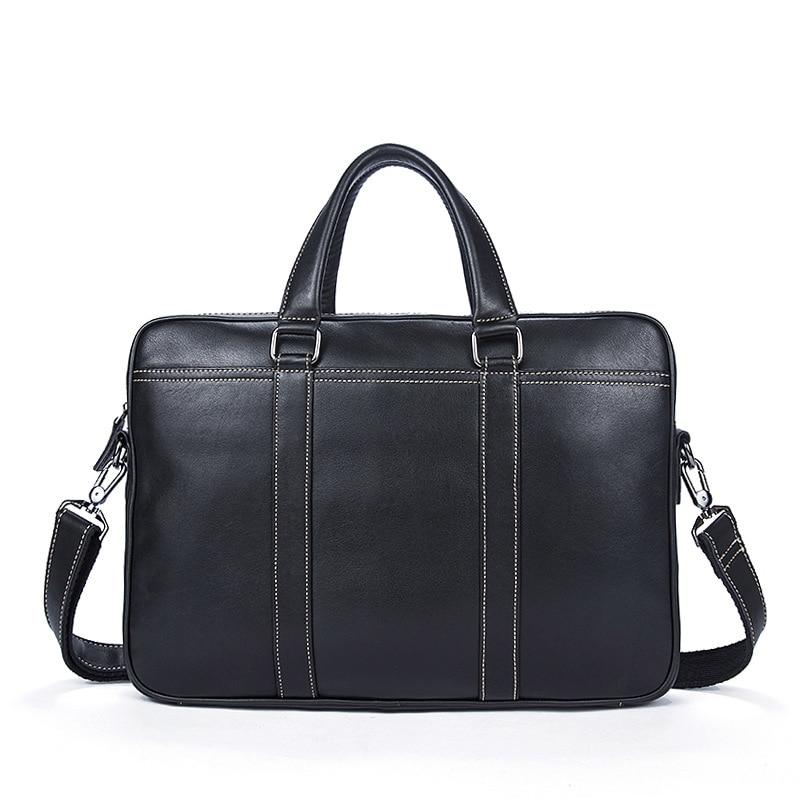 2018 Men Genuine Leather Briefcase Bags Business Laptop Tote Bag Men's Crossbody Shoulder Messenger Travel 14 Inch Handbags