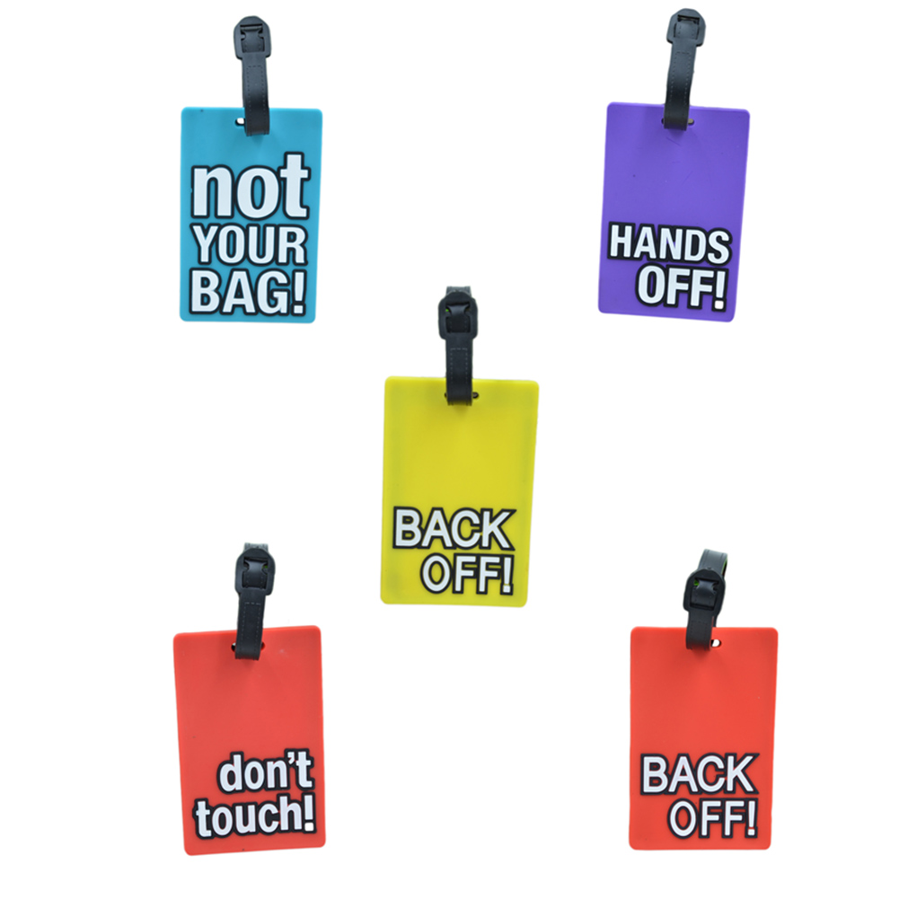 1pc! Cute Portable Secure Travel Suitcase ID Card Luggage Handbag Large Luggage Tag Label Letters printed