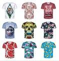 Skull Rose flower T-Shirt watermelon banana Print 3D t shirt Women Men funny tees tops fashion Outfits Summer Style tshirts
