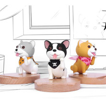 Cartoon Dog Wood Phone Holder Stand Bamboo Wood Holders For Apple Animal Station Holder For iPhone 5s 6 6s 7 8 Plus(China)