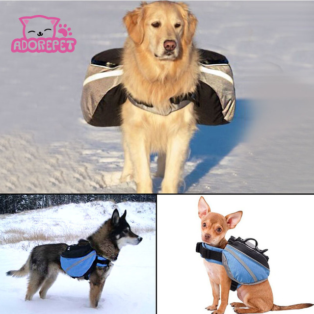 Outdoor Dog Saddle Backpack Bag Pet Cat Carrying Bags Medium And Large Pack