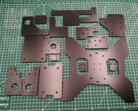 1set DIY HE3D/Tarantula 3D Printer Melamine plate frame Kit 6mm thick MGN12H instead of original 5mm acrylic plate set