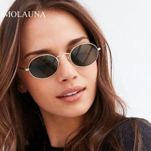 MOLAUNA Retro Small Round Sunglasses Women Brand Designer Mirror Sun Glasses Fashion Alloy Shades Female Glasses Oculos De Sol molauna round sunglasses women brand designer retro sun glasses for women fashion mirror shades female glasses oculos de sol