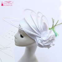 White/Black Fashion Hats Women Headwear For Wedding And Special Occasion Event Hats Vintage Wedding Accessories ZM006