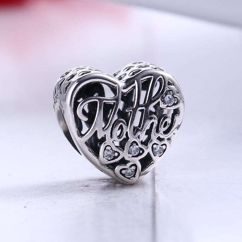 Authentic New 100% 925 Sterling Silver Fit Original Pandora Bracelet Mother & Son Bond DIY Charms Beads for Jewelry Making Gift