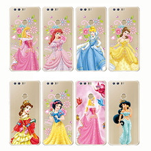 Castle Princess White Snow Prince Cartoon Phone Case Back Cover Silicone Soft for Huawei Mate 9 10 20 Pro lite x Honor