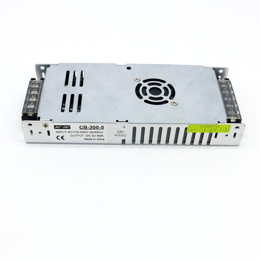 DC LED Display dedicated switching power supply 5V 10A 20A 30A 40A 50A 60A  300W Foot Switch Power Supply
