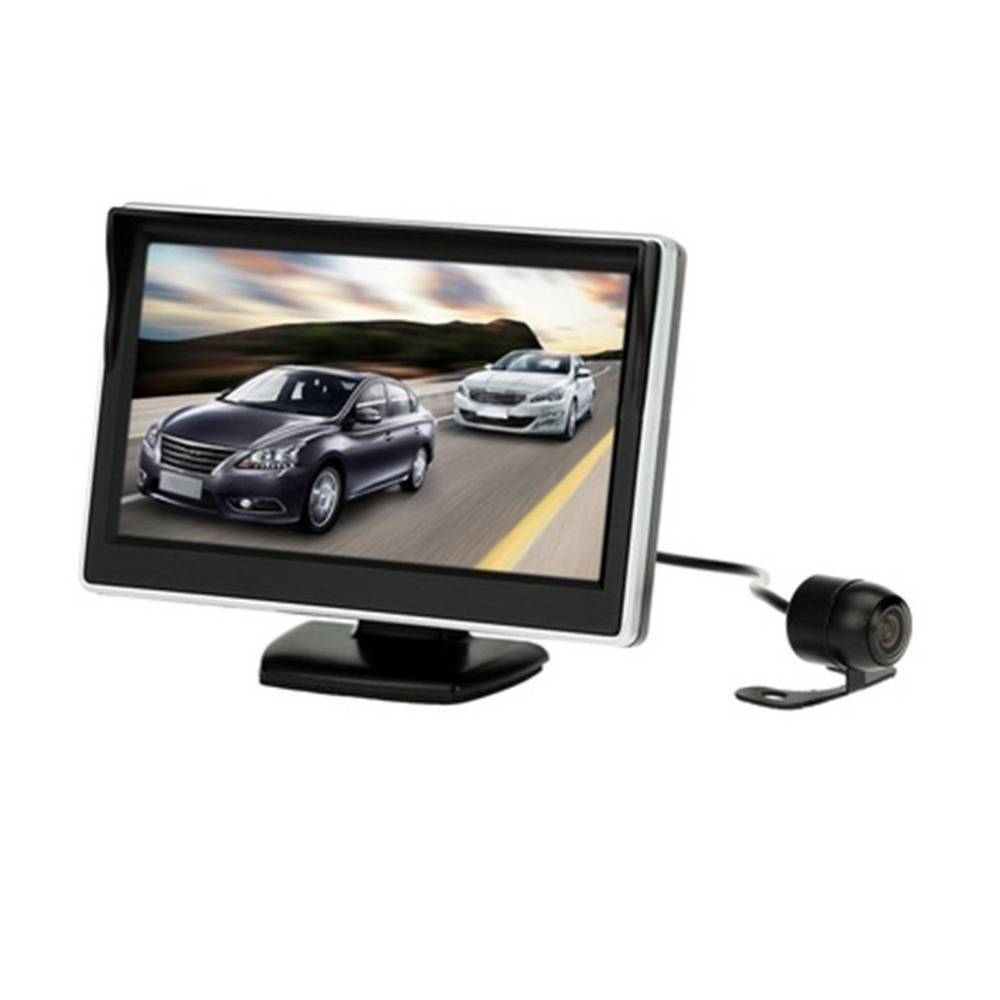 Universal 800 * 480 5 Inch Digital Monitor with Car Rear View Camera Combination Products Suitable For Car Truck Bus Trailer