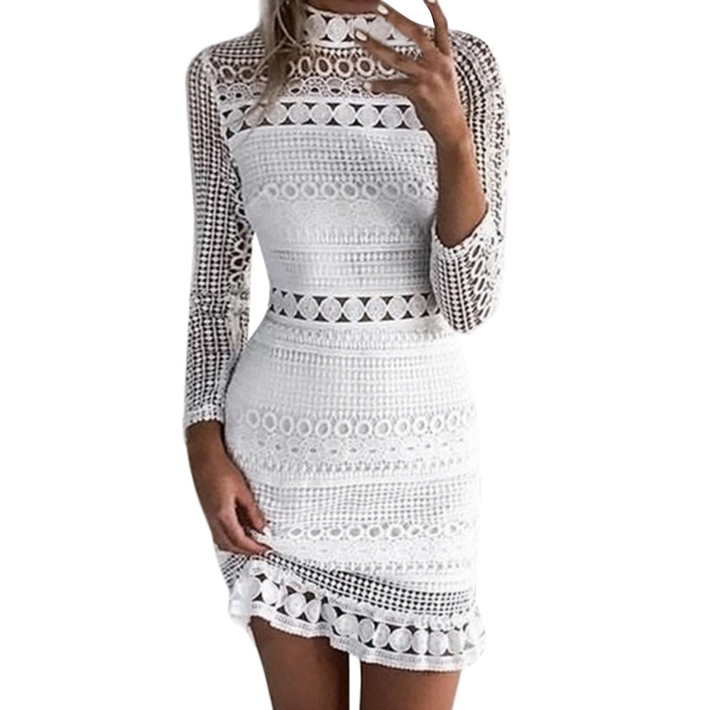 Women Sexy   Dress   Lace Bodycon   Cocktail   Party Pencil mini   Dress   Bandage   Dresses   vestidos verano sukienki jurk #YL