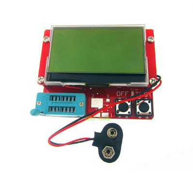 Free shipping 1pcs  Small 12864 LCD Transistor Tester Capacitance ESR Meter Diode Triode MOS LCR NPN