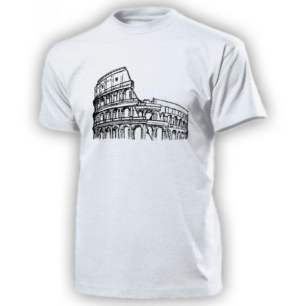 2019 männer Cool Tee Shirt Kolosseum Italien Rom Amphitheater romischen Antike Baukunst Rom T Shirt Sommer T-shirt