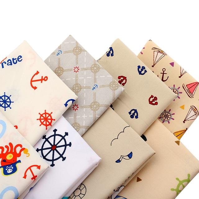 piraat serie katoen meter textiel naaien quilten stof voor naaien doek beddengoed tafelkleed kussen gordijn