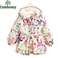 Children's Winter Jacket Graffiti Catoon Mouse Rabbit Animal Infant Girl Winter Coat Baby Boomer Jacket Cotton Warm Kids Outwear