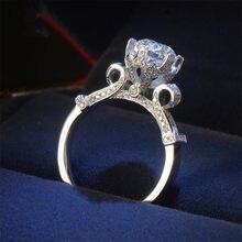 Real 100% 925 prata esterlina anéis de casamento para mulher noivado nupcial bijouterie wineglass anel luxo jóias finas r582b