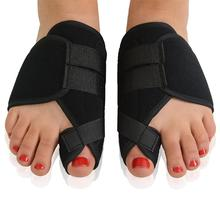 цена на 2Pcs Toe Separator Beetle-crusher Bone Ectropion Straightener Pain Relief Gel Bunion Protector Hallux Valgus Corrector Foot Care