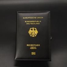 Немецкая Обложка для паспорта, Женский кошелек для путешествий, Обложка для паспорта из искусственной кожи чехол для паспорта reiseball Deutschland протектор