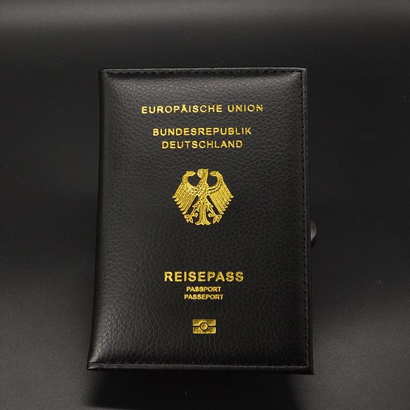 Germany Passport Cover Women Travel Wallet Passport Holder Pu Leather Case For Passports Reisepass Deutschland Protector