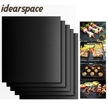 idearspace 3pcs/lot Non-stick BBQ Grill Mat barbecue Teflon baking Grilling met bbq accessories Easily Cleaned Kitchen Tools