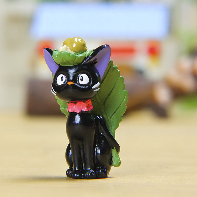 Resin Miyazaki Cat Ornaments Figurines Animal Miniatures Living Room Bedroom Study Office Garden Decoration Crafts Gifts Home 1