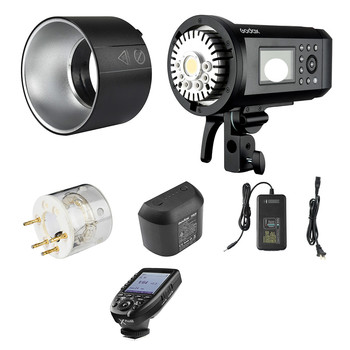 Godox 600Ws TTL Outdoor Flash Strobe Light + 28.8V/2600mAh Rechargeable Lithium Battery + Flash Trigger for Nikon Series