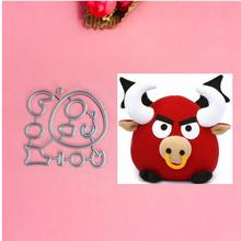 Lovely cow Metal Cut Dies Stencils for Scrapbooking Stamp/photo album Decorative Embossing DIY Paper Cards