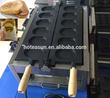 6pcs Commercial Use Non-stick 110v 220v Electric Korean Egg Bread Gyeranbbang Maker Iron Machine Baker