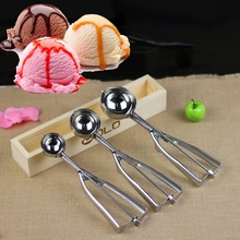 4CM 5CM 6CM Watermelon Ice Cream Scoop Mash Potato Scoop Stainless Steel Non-Stick Anti-Freeze Spoon Handle Kitchen Accessories
