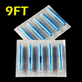 OPHIR 50pcs Flat Tip Tattoo Disposable Nozzle Tip 9FT blue #TA031(9F)-50x