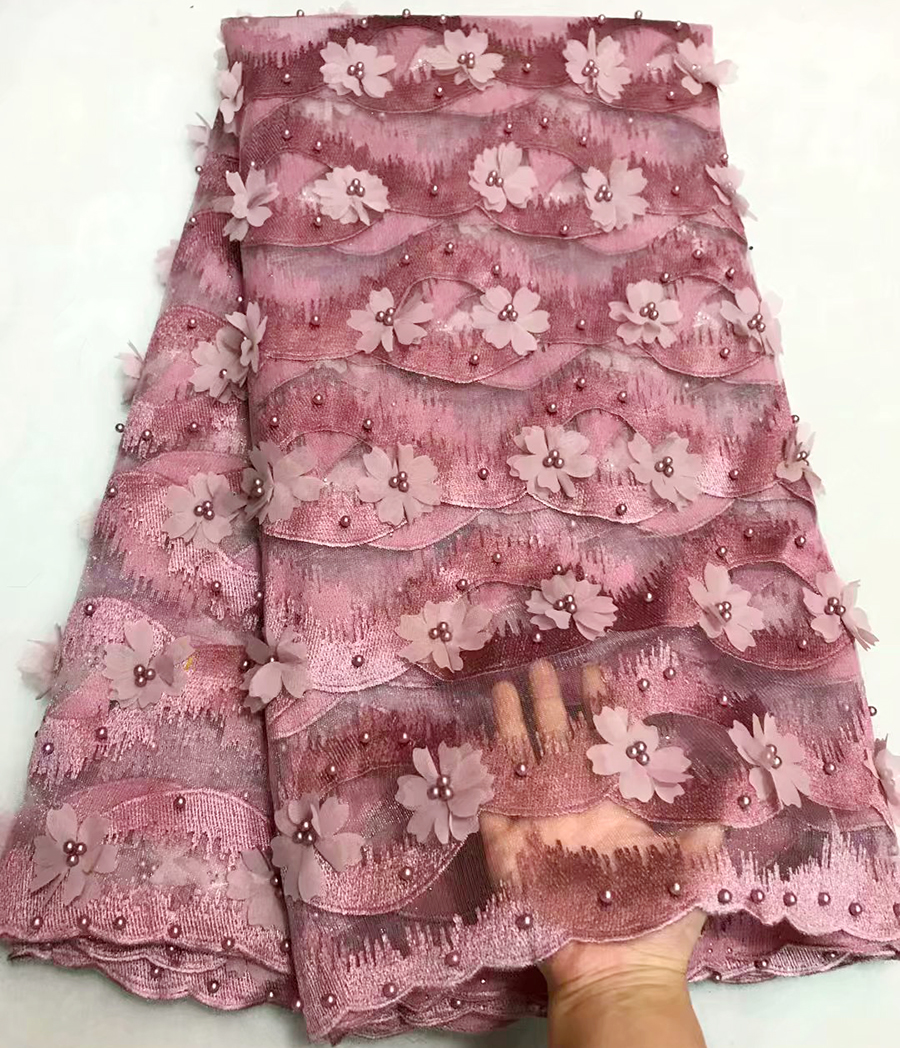 Hide powde 3D Flower Latest African Beaded Cord Lace Fabric High Quality Nigerian Lace Fabric For Wedding French Lace FabricHide powde 3D Flower Latest African Beaded Cord Lace Fabric High Quality Nigerian Lace Fabric For Wedding French Lace Fabric