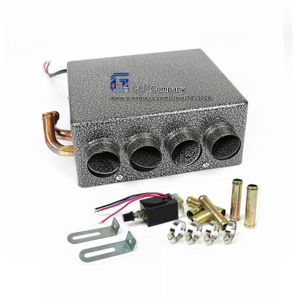 Универсальный Underdash компактный нагреватель 12 В или 24 В тепла с Скорость переключатель
