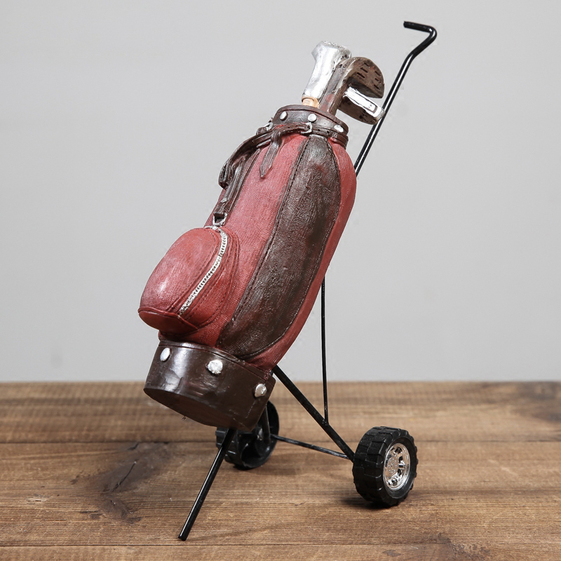 Retro golf clubs Model Resin furnishing articles Crafts Photo Props bar cafe shop Decoration