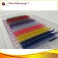 5 лотков в серию цветной шелковый индивидуальный ресниц бесплатная доставка
