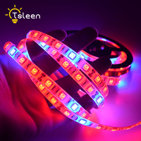 Touch Switch Plug Set LED Plant Grow Lights 5050 LED Strip DC 12V 5A Red Blue