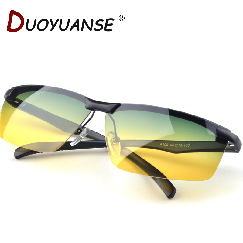 Free shipping high quality day and night driving mirror polarized glasses, anti-glare glasses high beam A106 Day & Night