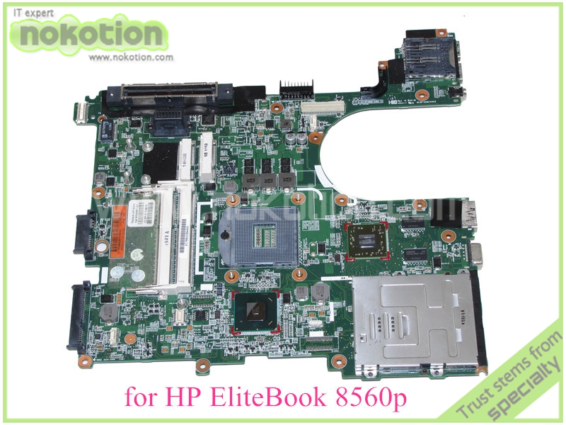 NOKOTION 646967-001 For hp elitebook 8560P motherboard QM67 ATI graphics card DDR3 free shipping for hp 8560w motherboard 652638 001 intel qm67 ddr3 green model 100