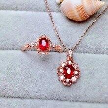 цены shilovem Natural New Burning Pigeon Blood Ruby Gemstone pendants Rings for Women Real 925 Sterling Silver Fine new mtz0406122agh