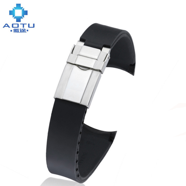 Men Silicone Watch Strap For Rolex Daytona Water Ghost Strap Accessories 20mm Male Sport Watch Band For Rolex Silicone Strap
