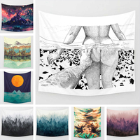 Moon Goddess Tapestry Home Decorative Hanging Beach Towel Table Cloth Blanket Tapestry Mandala Character For Living Room