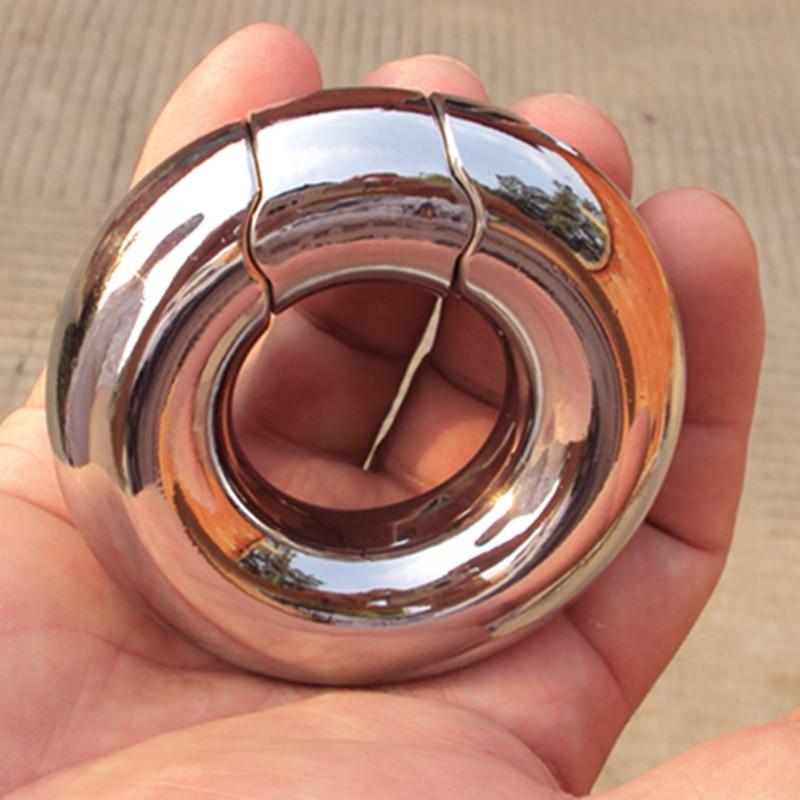 Scrotum Pendant Stainless Steel Penis Pendant Rings Work Testicular Pendant Interest Balls Ring Adult Sex Toys B2-2-104