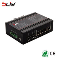 Управляемый промышленного класса сетевой коммутатор 4 гигабитным rj45 порт 2 sfp оптический порт ethernet индустрии смарт сети оптической kvm перекл