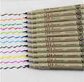 12colors Soft brush pen for cartoon for variegating multicolour Needle Art Markers Pen