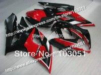 Injection custom for 2005 suzuki gsxr 1000 fairings K5 2006 GSXR 1000 fairing 05 06 glossy red black HM28